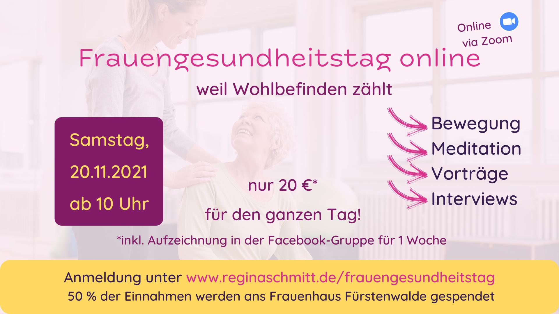Frauengesundheitstag online