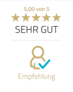 5-Sterne-Bewertung bei ProvenExpert